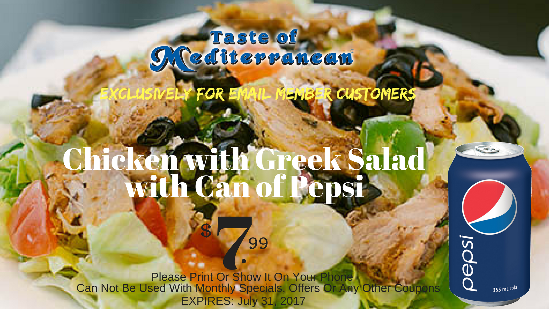 Chicken with Greek Salad coupon