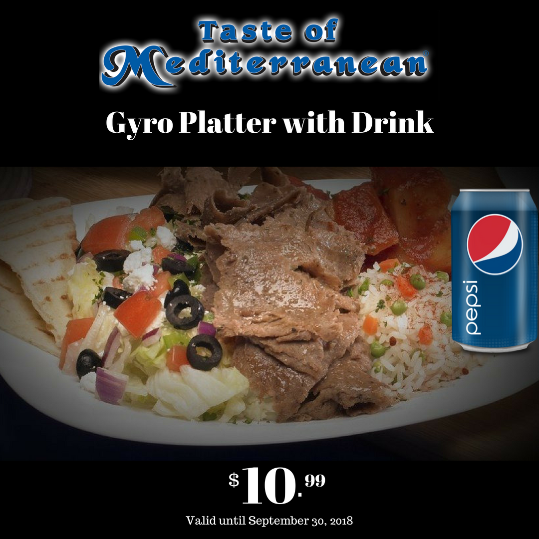 Gyro Platter with Drink