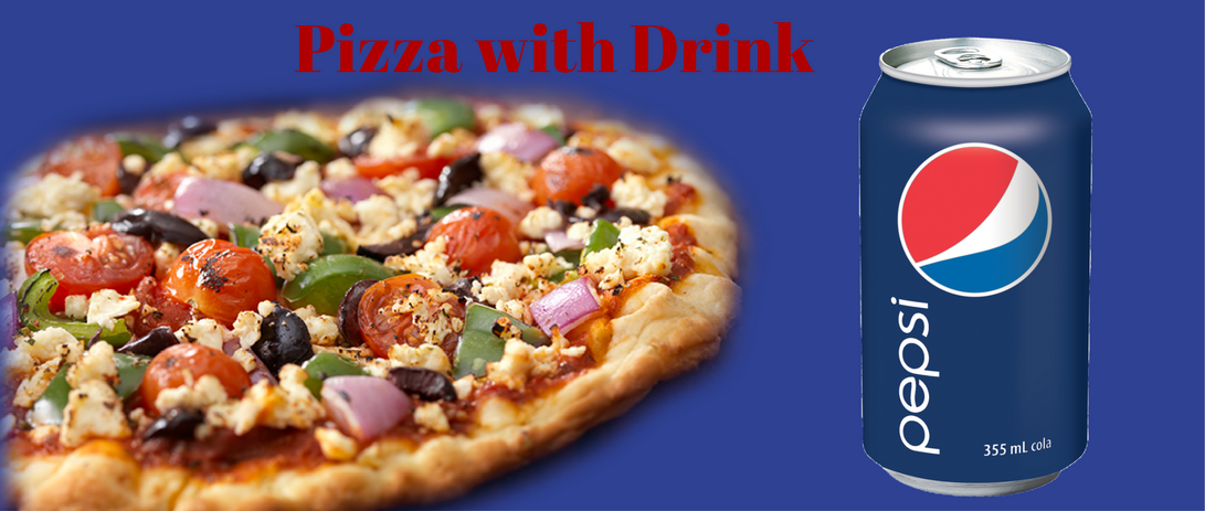 PIZZA WITH DRINK