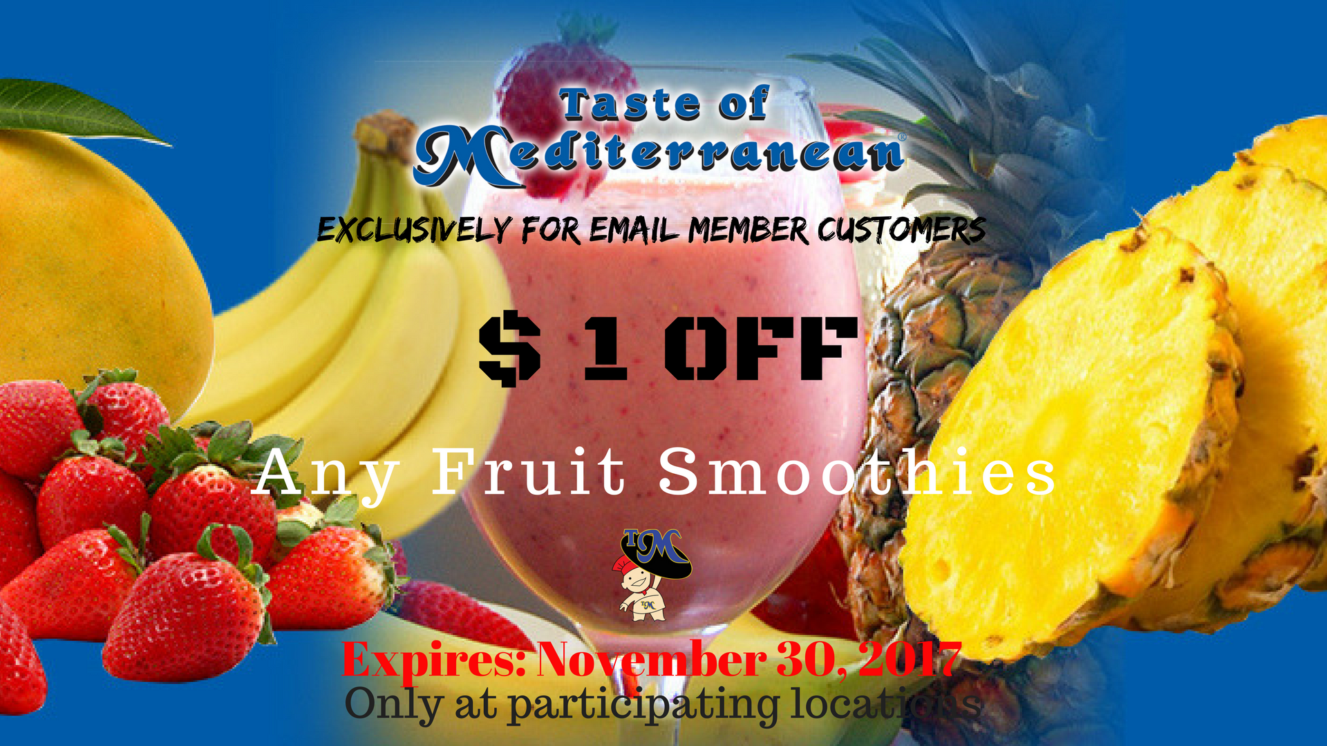 $1 OFF SMOOTHIES