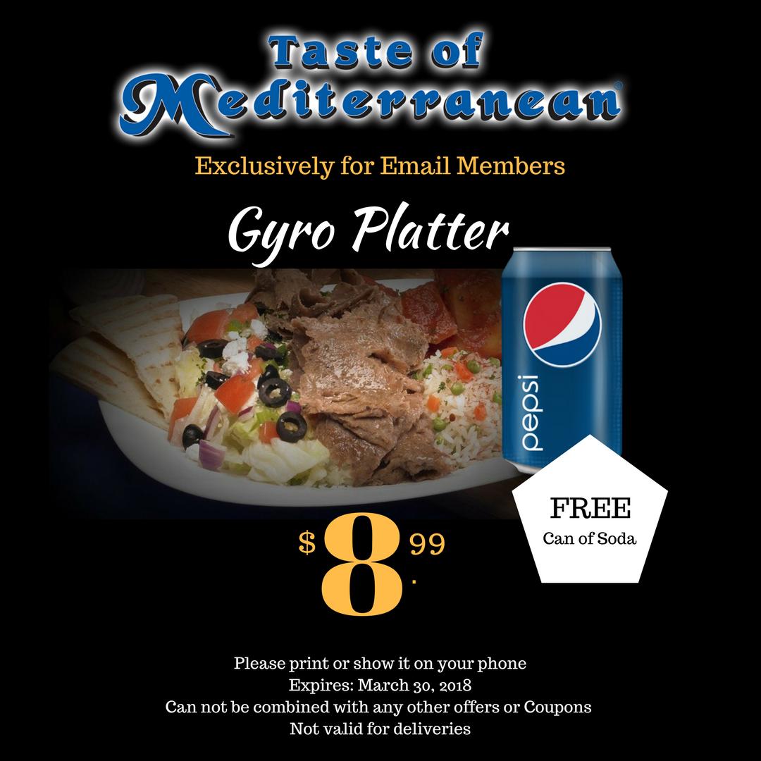 Gyro Platter special